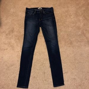 Abercrombie & Fitch Dark wash denim jeans